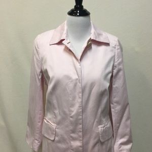 Pink cotton Trench! Adorable, EUC
